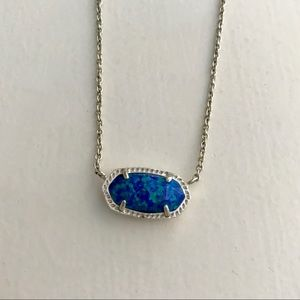 Kendra Scott Royal Blue Kyocera Opal Necklace